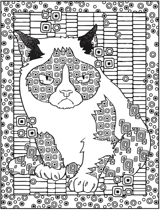 Creative Haven Grumpy Cat Hates Coloring Book