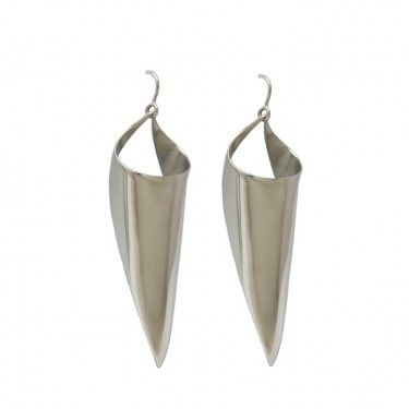 Coriolis Earrings Hand Crafted by Benjamin Black Goldsmiths.
