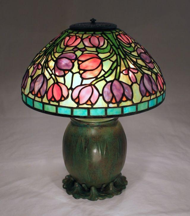 Bibliothek, Studio Lampe, Buntglaslampen, Tiffany Lampen, Lampendesign,  Tischlampe, Höhle, Mosaik, Schmelzglas
