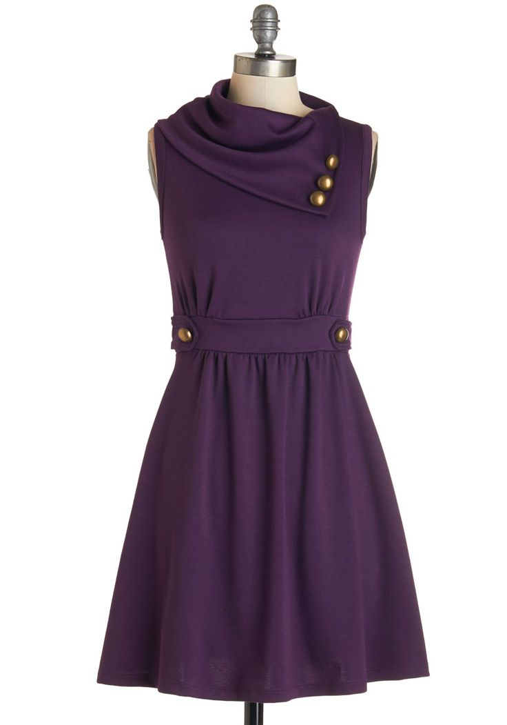 Coach Tour Dress in Violet, @ModCloth (WANT THIS IN THE BLUE PLAID!)