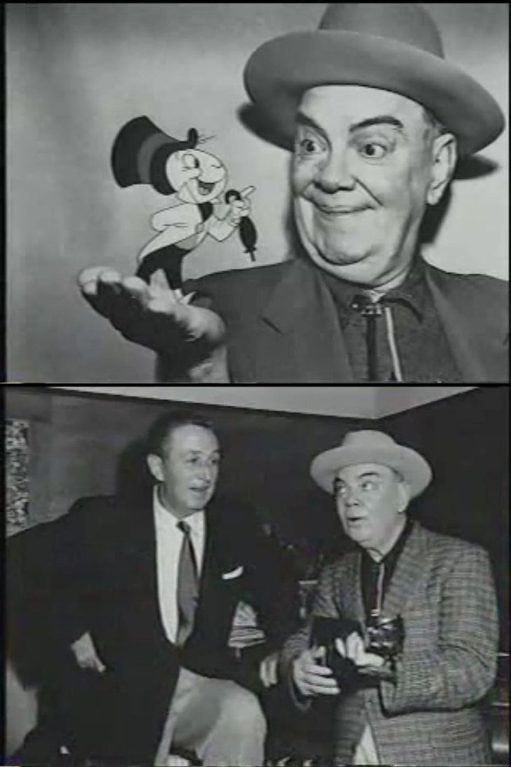 Walt with Cliff Edwards (Jiminy Cricket)