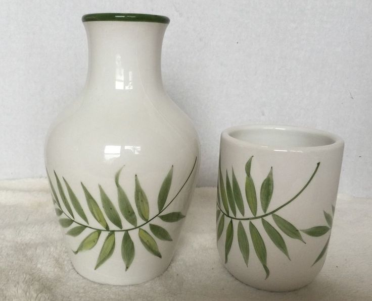 Carafe Set Guest Room Water Decanter with Cup Tropical Leaves | eBay