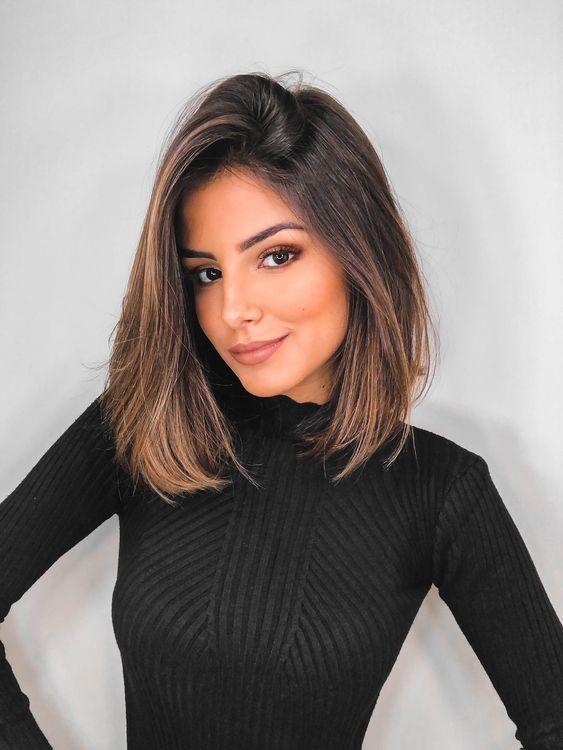 10 stilvolle Lob Frisur Ideen, beste schulterlanges Haar für Frauen 2019