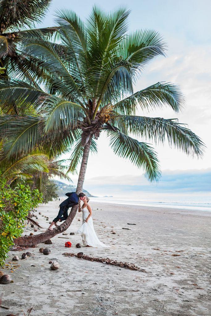 Sheraton Mirage Port Douglas , Beach wedding , tropical destination , Palm Tree , North Queensland . Alison Jones Cairns