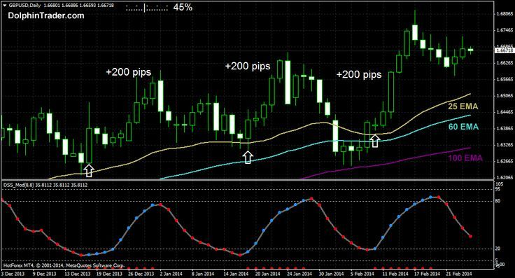 200 Pips Daily Chart Forex Trading Strategy Renkler
