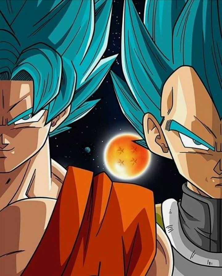Dragon Ball Super Ssgss Goku Ssgss Vegeta Four Star Dragon Ball Painting Anime Dragon Ball Dragon Ball Artwork