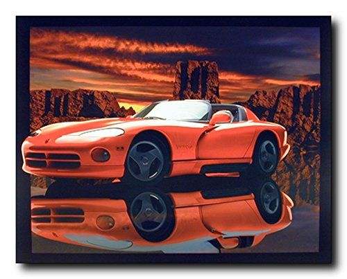 Absolutely stunning! Bring a modern touch to your home with this poster. This beautiful wall poster adds a sense of humor to your walls into your home. This poster captures the image of red hot Dodge viper sport racing car which looks very attractive and sure to add lot of attention. This poster will be an ideal gift for someone who is a car lover.