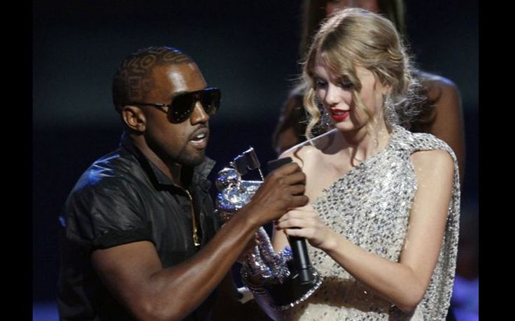"""I'm sorry, but Beyoncé had one of the best videos of all time': Kanye West interrupts Taylor Swift's for best female video award at the 2009 MTV Video Music Awards in New York"