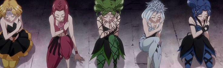 The Witches 5 in Sailor Moon Crystal
