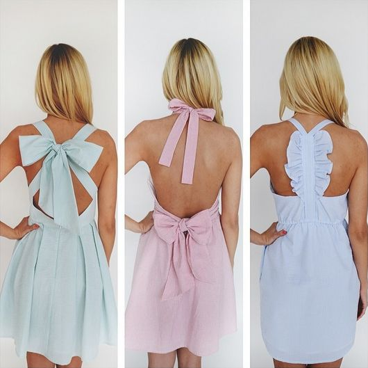 Lauren James- this would be cute if they were all the same color for a bridesmaid dress