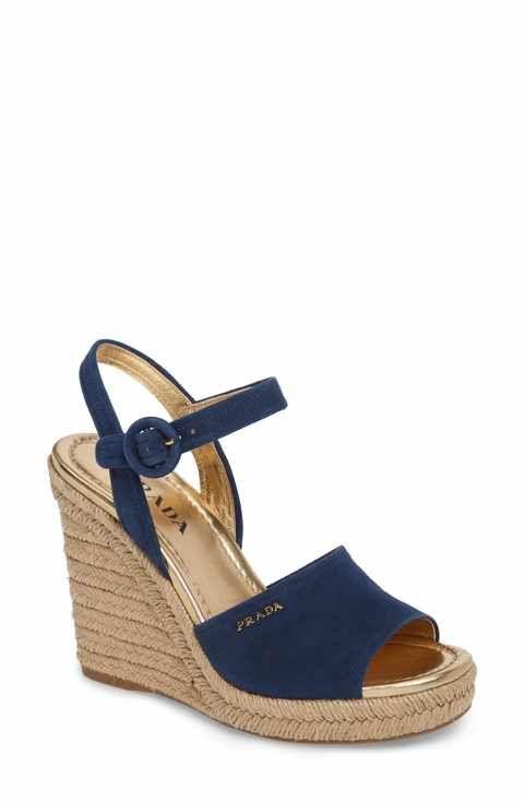 bc1f7993bf5f Prada Espadrille Wedge Sandal (Women)