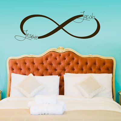 Loving this personalized monogram Infinity Symbol wall decal! Love Dali Decals! Would love to & 10 best Monogram Wall Decals images on Pinterest | Monogram wall ...
