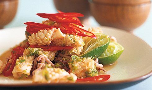 Stir-Fried Squid with Garlic and Chilli by Kylie Kwong