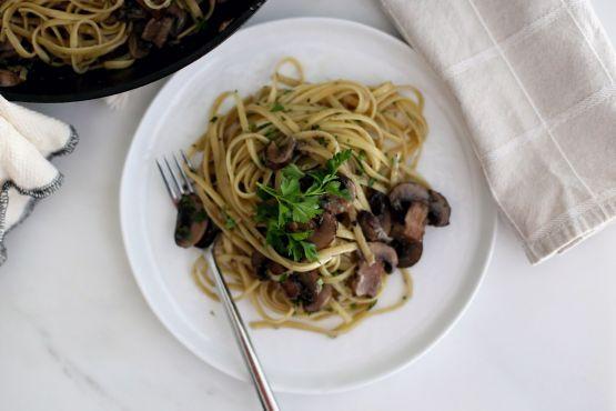 Pasta With Mushroom Garlic Sauce Recipe - Food.com