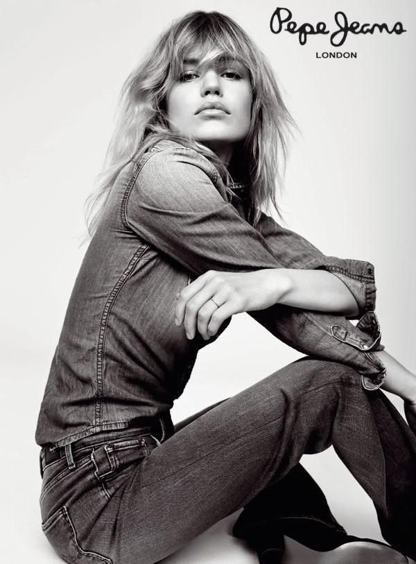 Georgia May Jagger pose for Pepe Jeans Fall Winter 2016