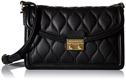 Women's Cross-Body Handbags - Vera Bradley Quilted Tess Cross Body Bag Black One Size ** Want to know more, click on the image.