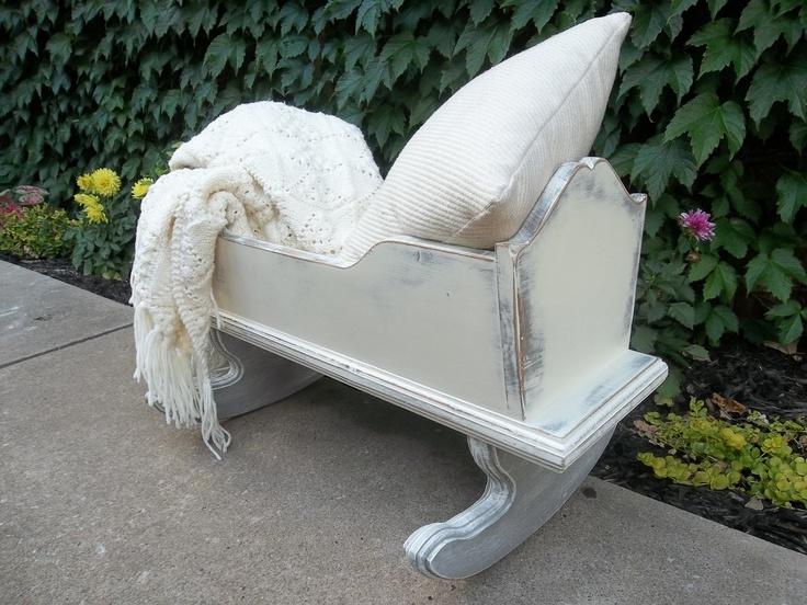 Vintage Baby Cradle / Vintage Wooden Cradle / Wood Doll Cradle / Doll Cradle. $89.00, via Etsy.