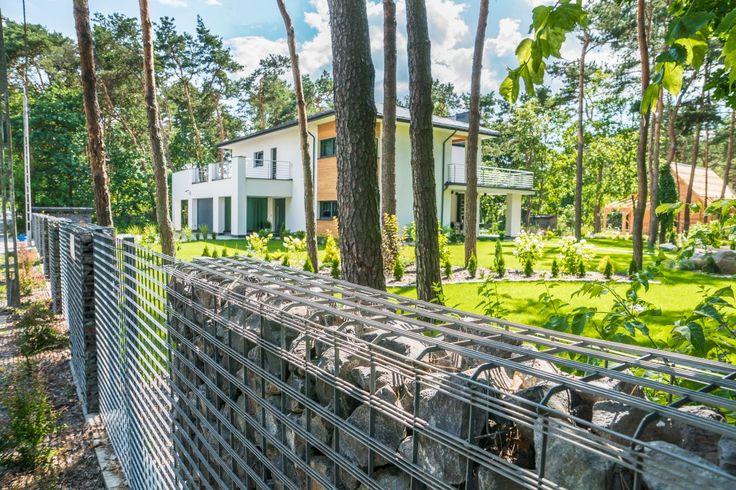 #gabion #ogrodzenie #architektura #dom #ogród #gabiony