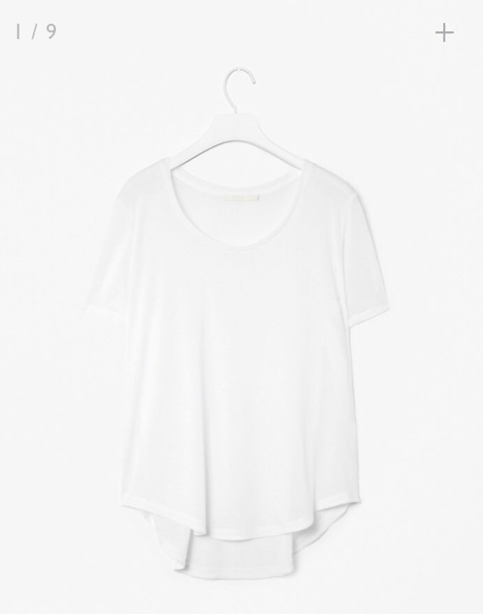 Curved Hem Jersey Top from COS. 25£ and made in Portugal! Such a nice basic.