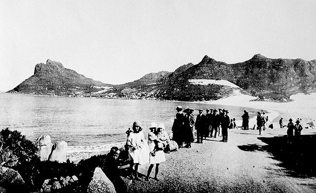 Hout Bay Beach in the 1920s from Chapmans Peak Drive