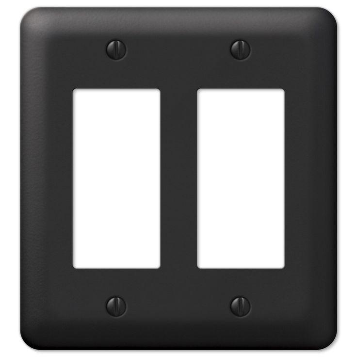 Amerelle Devon 935rrbk Black Double Rocker Gfci Switch