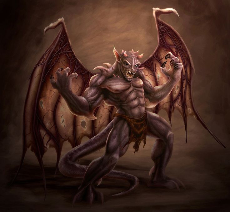 Gallery For > Evil Gargoyle Art | Flying High | Pinterest ...