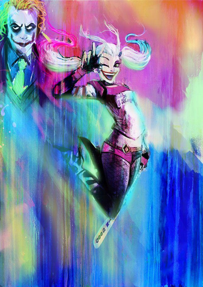 harley quinn, gabe rose on ArtStation at https://www.artstation.com/artwork/xe1LW