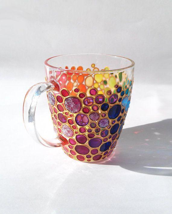 Les 25 meilleures id es de la cat gorie tasses peintes - Tasse a cafe personnalisee ...