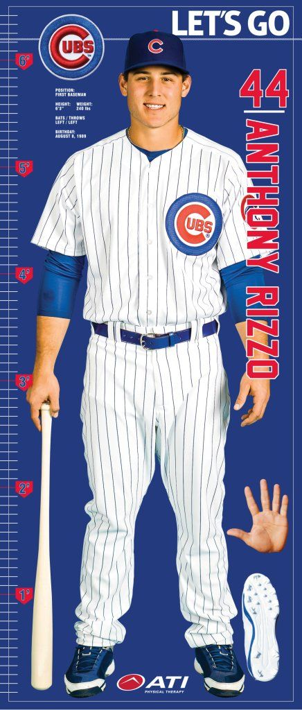 Anthony Rizzo Life-Size Fabric Growth Chart - Would be great for your little Cubs room!