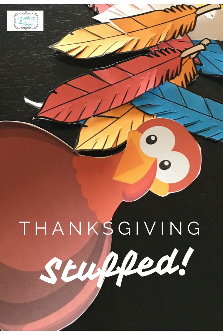 Kid-inspired Thanksgiving Free Printables!  BEST stuffing recipe - a family tradition!