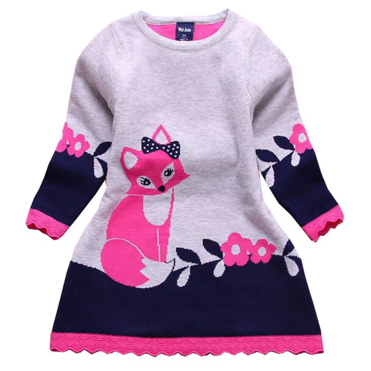 $20.89 (Buy here: https://alitems.com/g/1e8d114494ebda23ff8b16525dc3e8/?i=5&ulp=https%3A%2F%2Fwww.aliexpress.com%2Fitem%2F2016-Autumn-New-Fashion-Sweater-Dress-Long-sleeve-Kids-Girl-Dress-Thick-Girl-Fox-Sweater-Dress%2F32732408482.html ) 2016 Autumn New Fashion Sweater Dress Long-sleeve Kids Girl Dress Thick Girl Fox Sweater Dress for Children for just $20.89