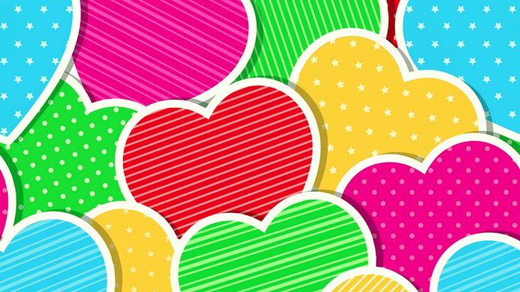 Nexus 5 Wallpaper 1920x1080: Colorful Hearts Nexus 5 Wallpaper (1920x1080)