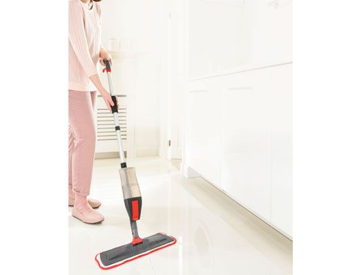 3 IN 1 SPRAY MOP WITH FREE WINDOW WIPER ATTACHMENT   Multi purpose microfibre mop. Includes flat mop with a spray tank and a replaceable double squeegee. Captures and retains dirt, dust and moisture. Overall height 120cm. Flat mop head L40 x W14cm. Length of squeegee 27cm