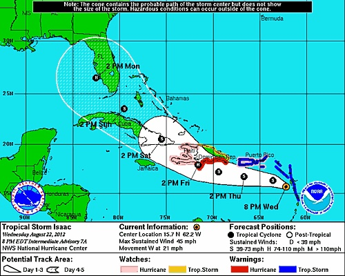 TS Isaac projected path | Tropical, Projects, Graphic