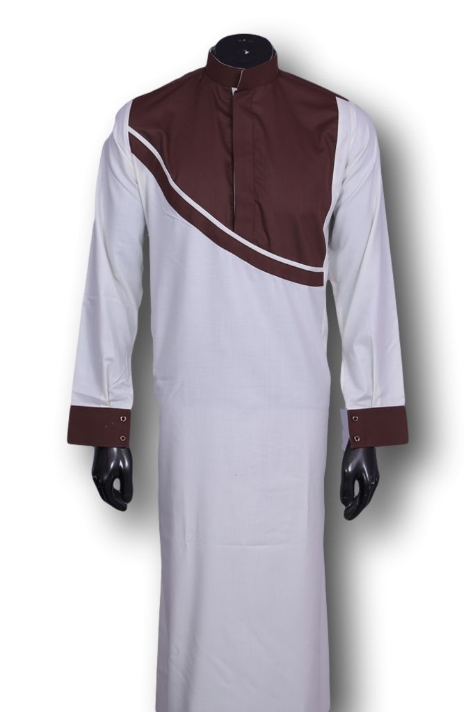 Kufnees Design 5011 Colour White With Maroon