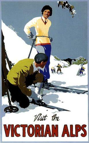 "Australia Historical Travel Poster ""Victorian Alps"" | eBay"