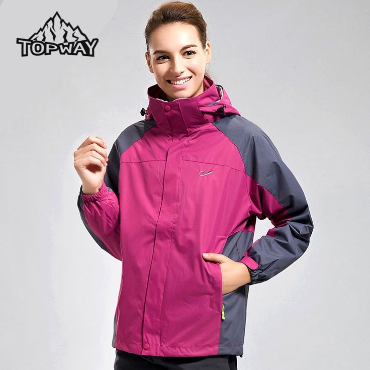 51.45$  Buy now - http://aliifl.worldwells.pw/go.php?t=32506325107 - High Quality Winter Windstopper Warm Chaquetas Mujer Hiking Outdoor Sport 3in1 Jacket Women Camping Ski  Water Resistant Coat