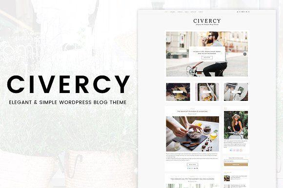 Civercy Elegant Wordpress Theme