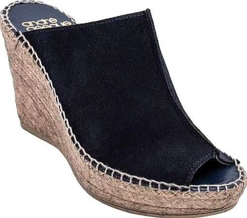 Andre Assous Shoes - Enhance your look with the Andre Assous Cici Espadrille Wedge Sandal. This jute woven high heeled espadrille sandal is the casual modern accent that you've been searching for to add lift and style to all your favorite outfits. - #andreassousshoes #navyshoes