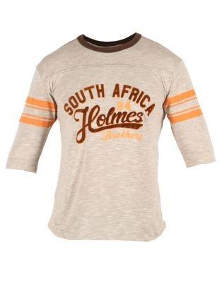 Holmes Bros Mens Three Quarter College Holmes T-Shirt