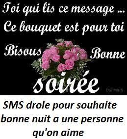 SMS drole pour souhaite bonne nuit a une personne qu'on aime