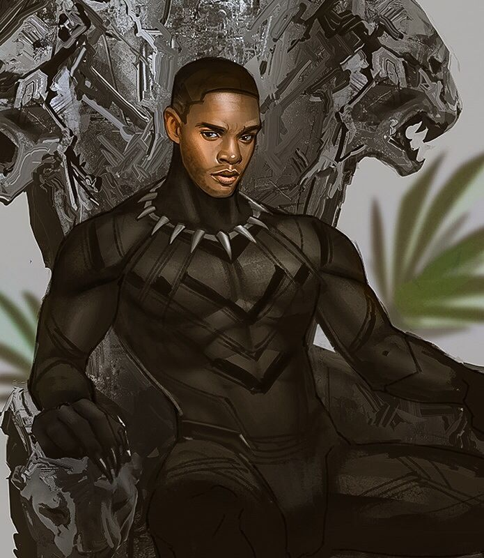 My favourite Cat Prince !!!! T'challa was my favourite part about Civil war (By mstrmagnolia on tumblr)