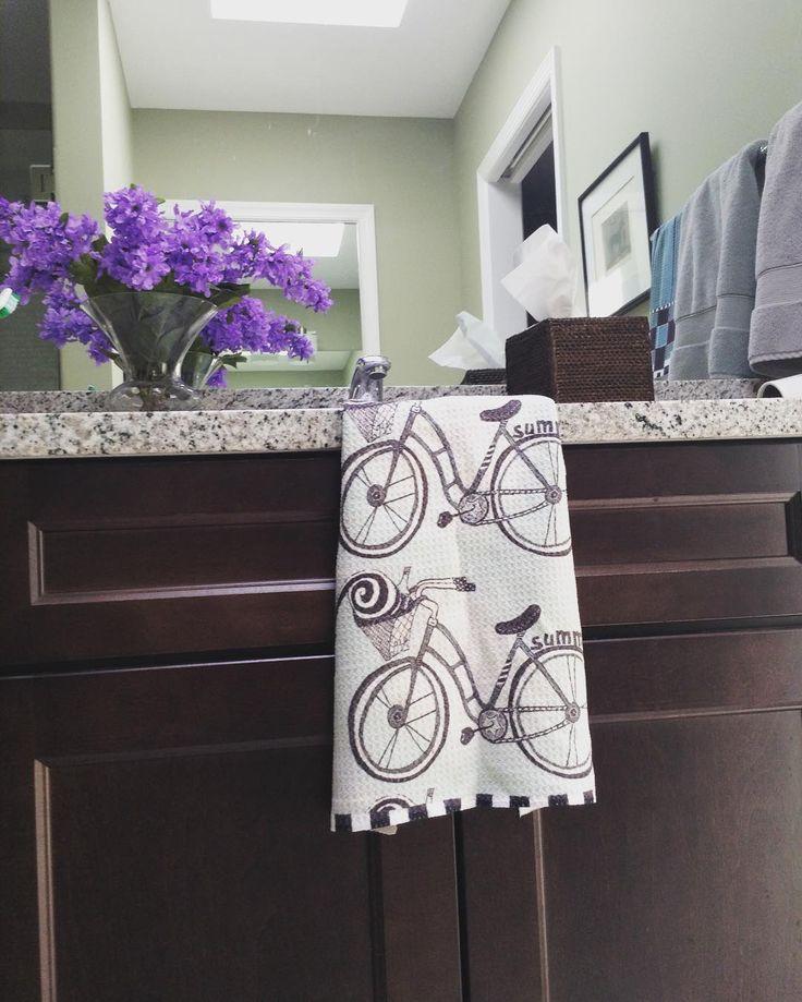 Summer Bicycle Towel #bikelife #bicycle #bikeride #bikeriding #biking #bikinglife #cycling #summer #handtowel #handtowels #kitchentowel #kitchen #kitchentowels #bathroom #bathroomdecor #teatowel #guesttowels #guestbathroom #bicyclelover #bicyclelove #bikestagram #pdjunction #zazzle #zazzlemade #pdjunction #green #greenbike #greentowel  #greenbicycle #retro #retrobicycle