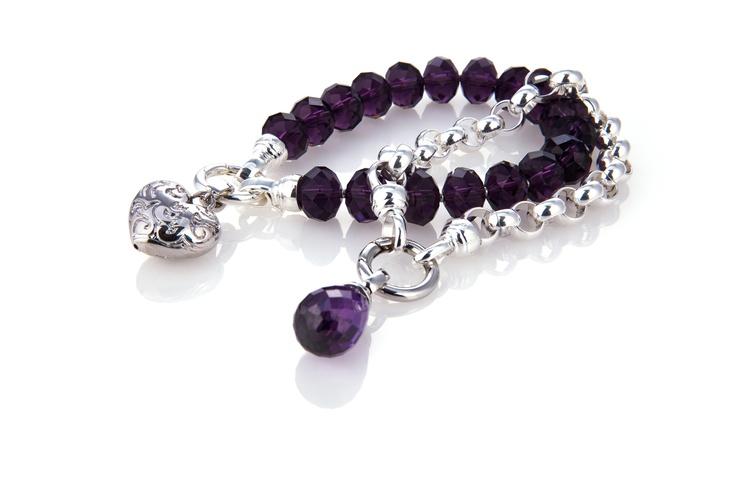 Kagi #bracelet #purple #silver