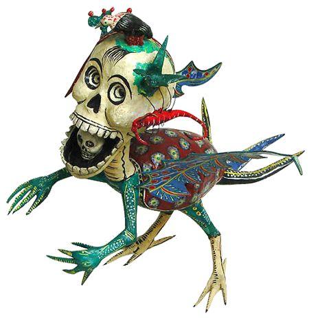 ALEBRIJES!       History of Alebrijes     YOUR PROJECT:     You are going to create a 3 dimensional papier-mache Alebrije. Like Mexican ar...