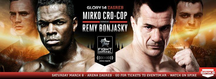Glory 14 Zagreb - Remy Bonjasky vs. Mirko CroCop Fightcard