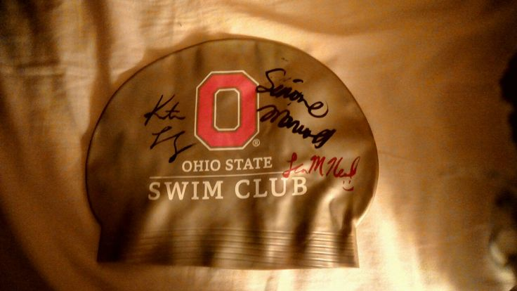 I got 3 Olympic swimmers autographs (Katie Ledecky, Simone Manuela and Lia Neal!)