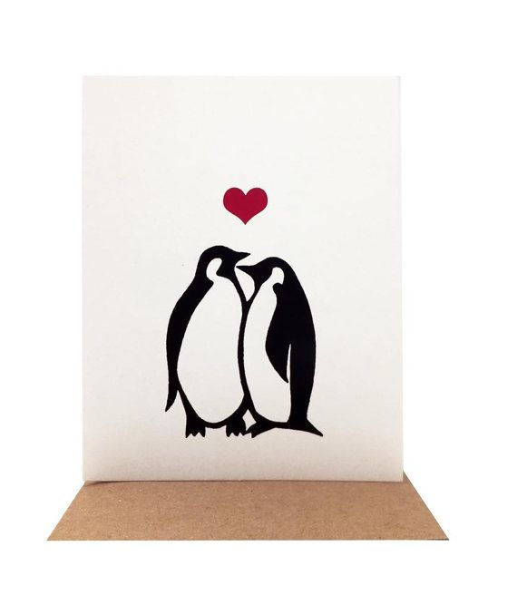 penguin valentines day box