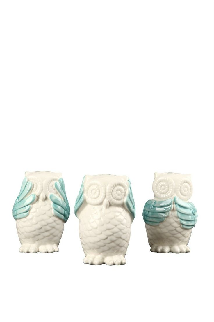 set 3 no evil owls | Cotton On (See No Evil, Hear No Evil, Speak No Evil)