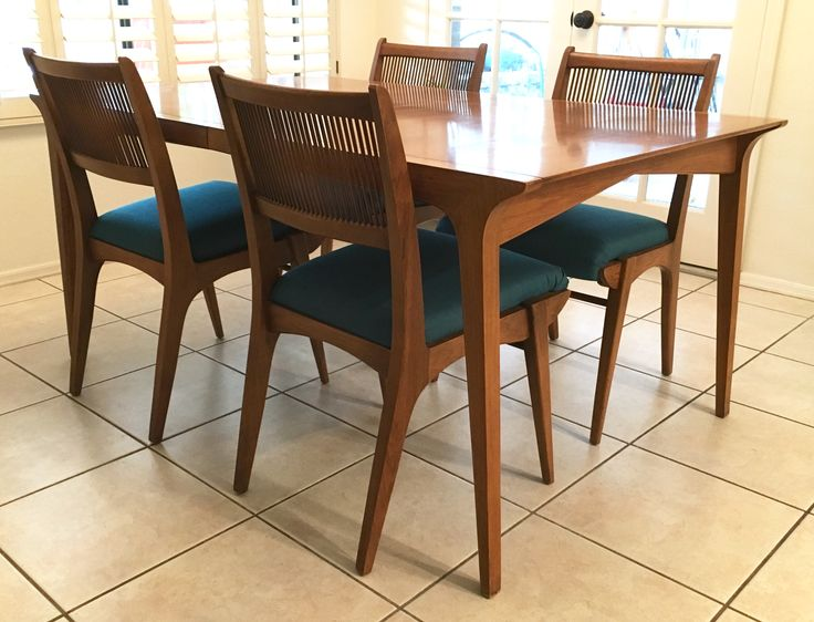 furniture dining table chairs mid century round with leaf and mcm